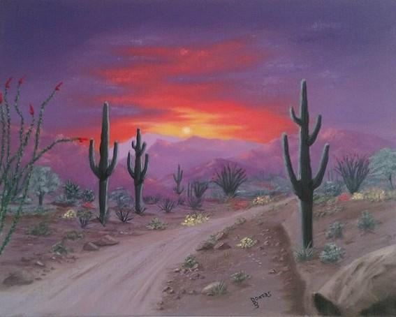 Desert Sunsets Southwest Paintings Arizona Landscapes